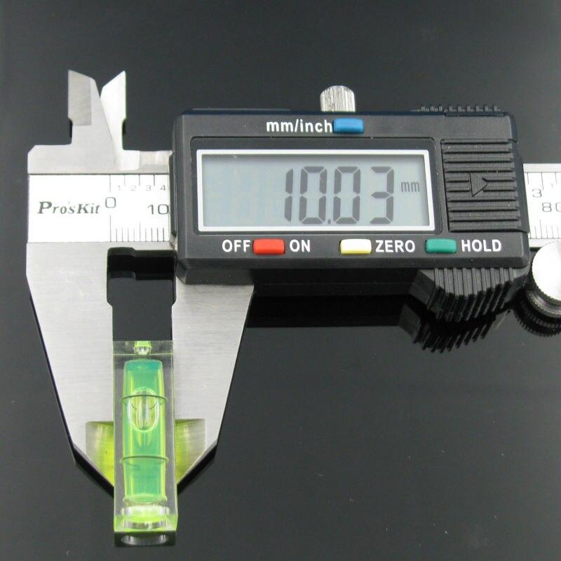 Image 5 - プロモーション!! 5 ピース/ロットサイズ 10*10*29 ミリメートル正方形 PMMA バブルレベルアクリルシェル精神レベルバイアルテレビラック    グループ上の ツール からの レベル計測器 の中