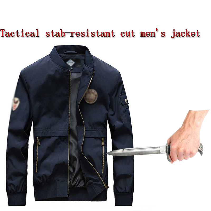 Self Defense Stab-proof Cut-proof Safety Jacket Tactical Police Military Standing Collar Chinese Style Hidden Protection Jacket
