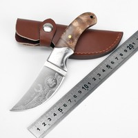 Hot Fixed Blade Hunting Knife Sharp 440 Blade Outdoor Survival Knife Wooden Handle Camping Tactical Pocket