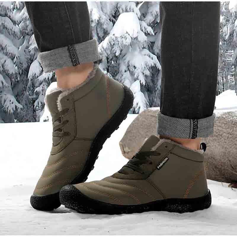 Energisch Masorini Wasserdichte Winter Schnee Stiefel Männer Plus Warme Plüsch Herren Stiefeletten Große Größe 36-46 Unisex Outdoor Schuhe Ww-831