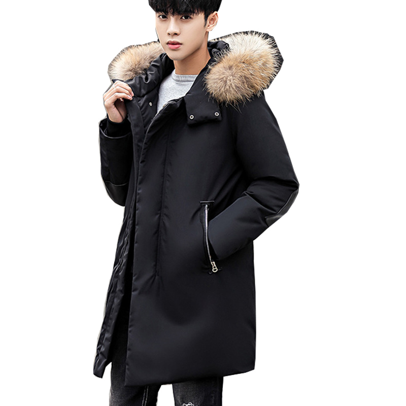 c79f1e06becd add new brand clothing jackets thick keep warm men Fur down jacket high  quality fur collar hooded down jacket winter coat Male