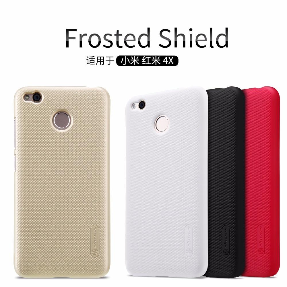 imágenes para 10 unids/lote 4X Al Por Mayor de NILLKIN Caso Protector Estupendo de Esmerilado Para Xiaomi Redmi (5.0 pulgadas) PC Cubierta Trasera de Plástico Con Protector de Pantalla