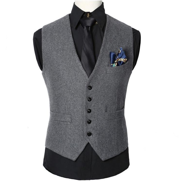 High quality  New Men Suit Vest Dress Vests Men'sWaistcoat Casual Men Suit Vest Tops