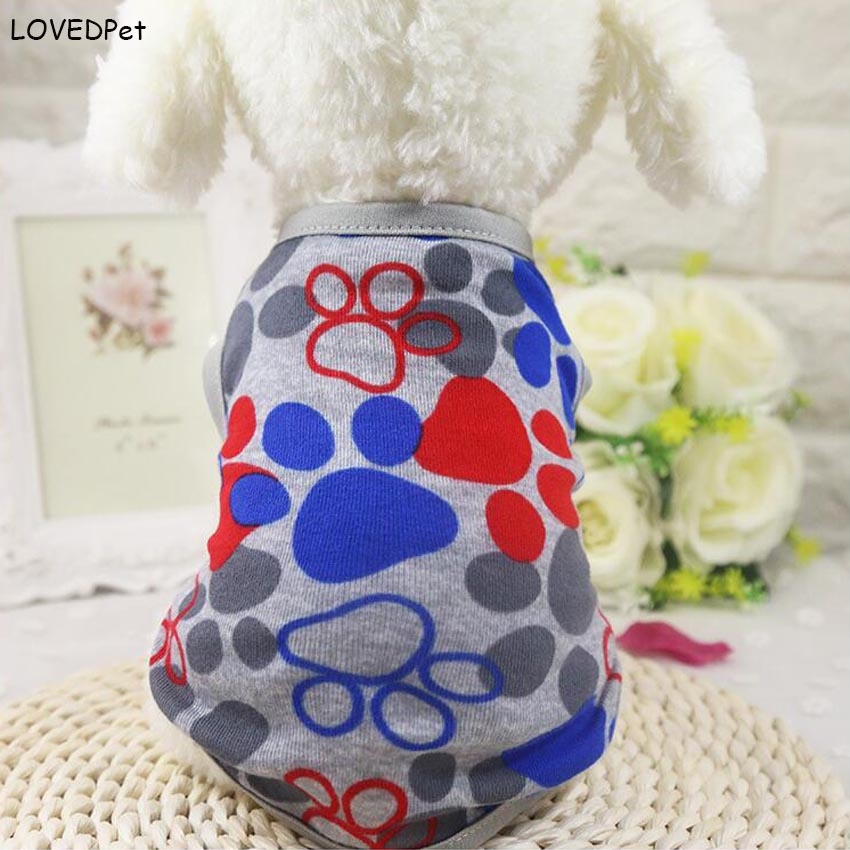 Cute Dog Clothes Summer Cotton Puppy Shirts Tshirt Cat Vests jerseys Costume Clothing for Small Pets Chihuahua terrier Yorkie