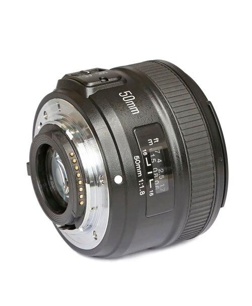Objectif d'origine pour appareil photo YONGNUO 50mm f1.8 à grande ouverture mise au point automatique pour NIKON d5200 d3300 d5300 d90 d3100 d5100 s3300 d5000 - 4