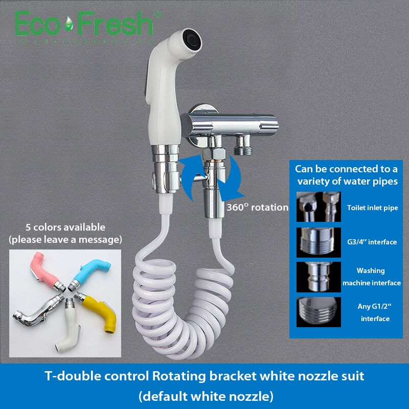 Handheld Toilet Bidet Sprayer Set Kit Hand Bidet Faucet For Bathroom Hand Sprayer Shower Head Self Cleaning