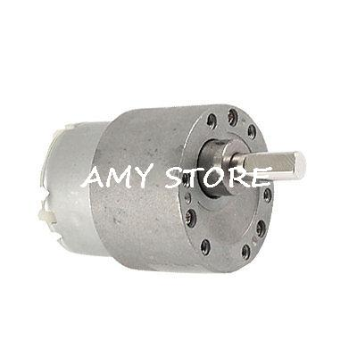 6mm Dia Output Shaft 12V 60mA DC Gear Motor Replacement 66RPM 37GB-520 0.8W