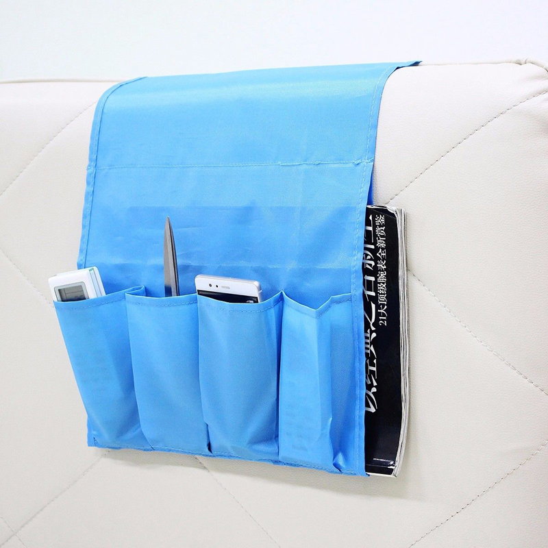 Foldable 4 Pockets Hanging Sofa Side Storage Bag Cell ...