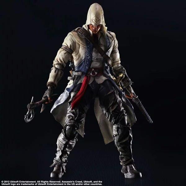 все цены на Play Arts Kai PA Assassin's Creed III Assassin Greed Connor Kenway Figure Ezio PA 260MM PVC Action Figure Toys Gift Brinquedos онлайн