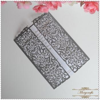 100pcs elegant laser cutting lace wedding invitation card 2017
