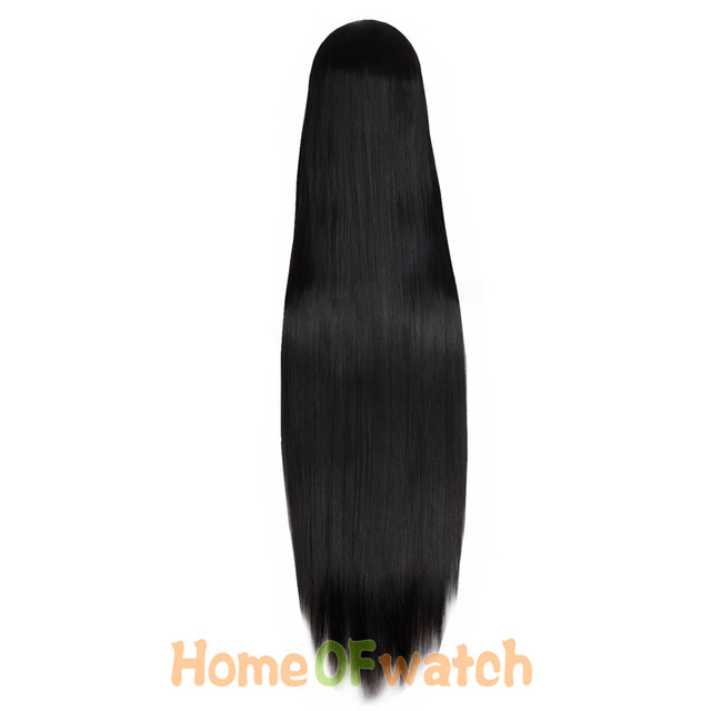 """MapofBeauty  39"""" Long Straight Hair100cm Cosplay Wig Black White Brown 4 Colors Heat Resistant Synthetic Wigs Women Ladies Party 1"""