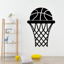 Modern Sports Basketball Wall Stickers Vinyl Waterproof Home Decoration Removable Sticker Bedroom Nursery
