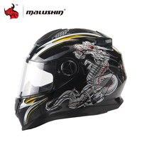 MALUSHUN Full Face Motorcycle Helmet Dragon Printing Full Face Riding Helmet Moto Helmets Capacete De Moto