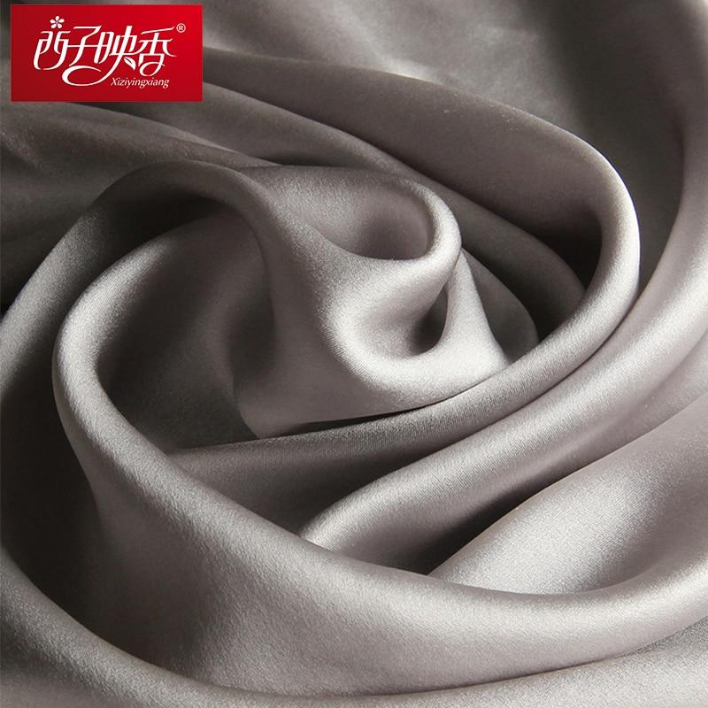 100% Naturliga Silk Scarves and Shawls Winter Women Silk Scarf 2018 - Kläder tillbehör - Foto 5