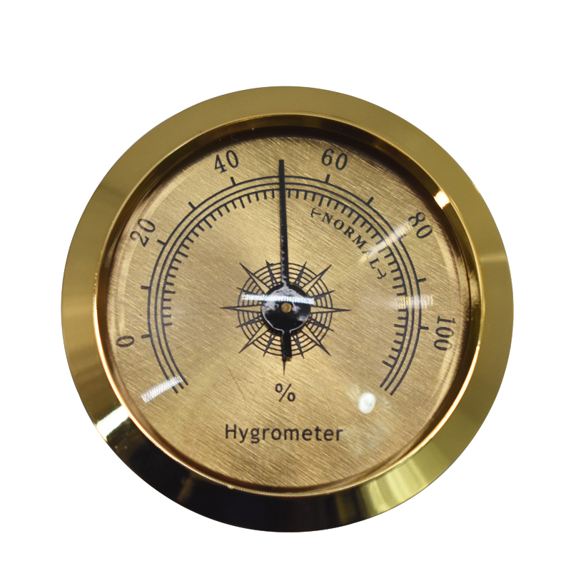 Precision Cigar Hygrometer Accurate Portable Mini Mechanical Humidor Hygrometers Round Humidity Detector Accessories For Cigars