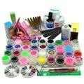 36 Цвет твердые c маленькими блесками УФ-Гель Гель Лак  Для Маникюра Инструменты Наборы и комплекты Кисти Для Ногтей  Nail Art Tools Base Gel Top Coat