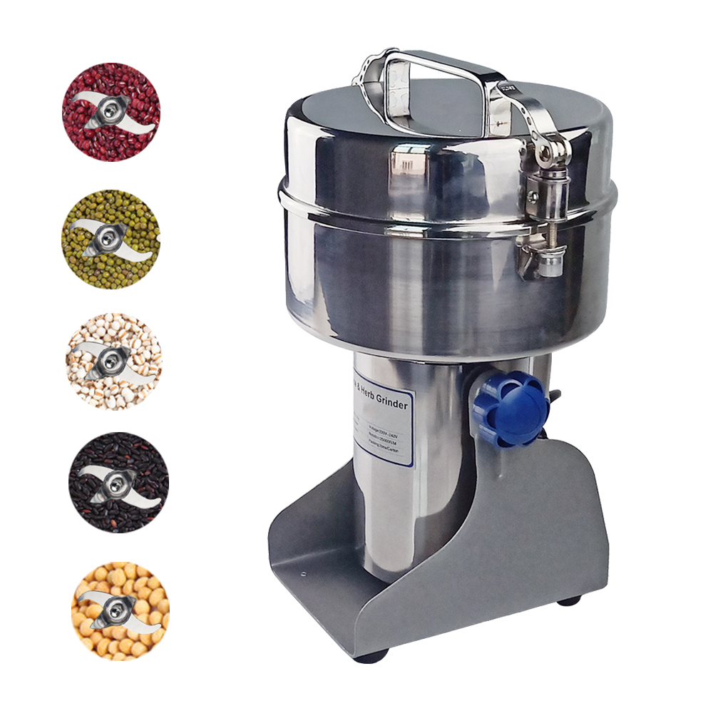 DULONG Electric home use stainless steel automatic grinder machine for grill grain herbals spices coffee cereal beans etcDULONG Electric home use stainless steel automatic grinder machine for grill grain herbals spices coffee cereal beans etc