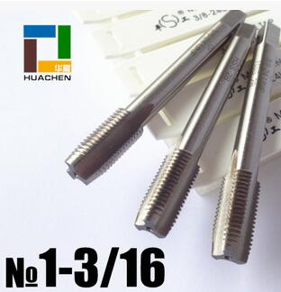 "Free shipping of UN standard 1pc 1-3/16""-8 UN  HSS machine straight flute Tap for UNS standard metal steel workpiece threading"