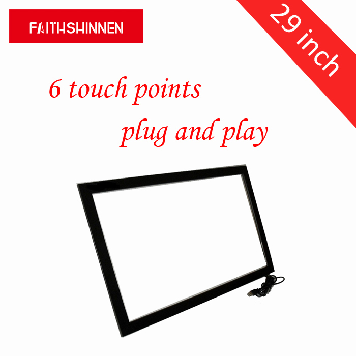 29 inch infrared IR touch screen frame 6 touch points overlay kit touch overlay usb without glass 32 inch high definition 2 points multi touch screen panel ir multi touch screen overlay for touch table kiosk etc