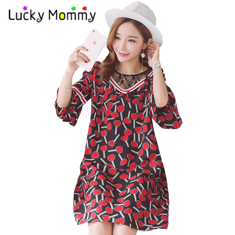 Stitching Floral Maternity Boho Dress 2017 Summer Maternity Clothes Half Sleeve Cotton Bohemian Pregnancy Clothing for Pregnant