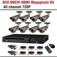720P Megapixel CCTV Camera HD Outdoor IR HDMI DVR 8 Channel HD CVR 8 CCTV Camera