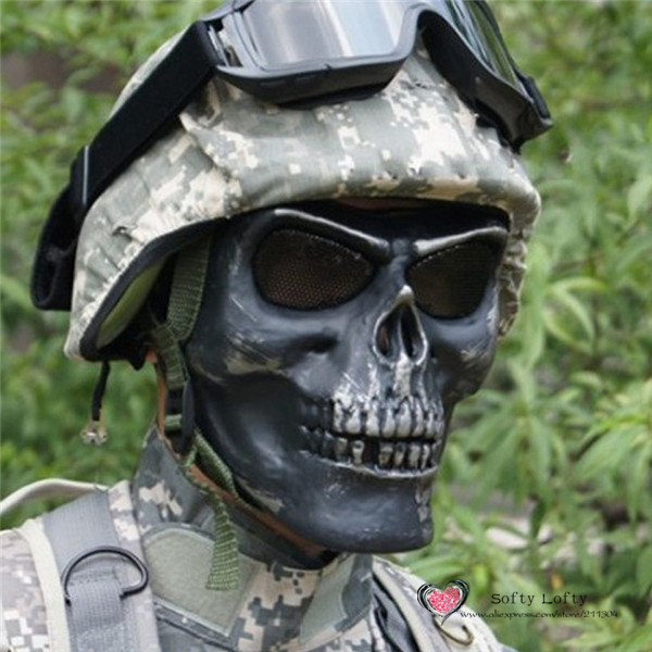 CS Soldiers Mask Protection 3 colors - Silver Black 3