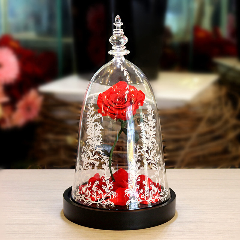Rose Immortal Rose-Flower-Festive Preserved-Forever Gifts Glass -247331 Fresh Unique
