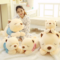 Soft Bed Time Bear Plush Toys Kawaii Giant Teddy Bear Sleep Cushion Stuffed Animal Girl Favorite