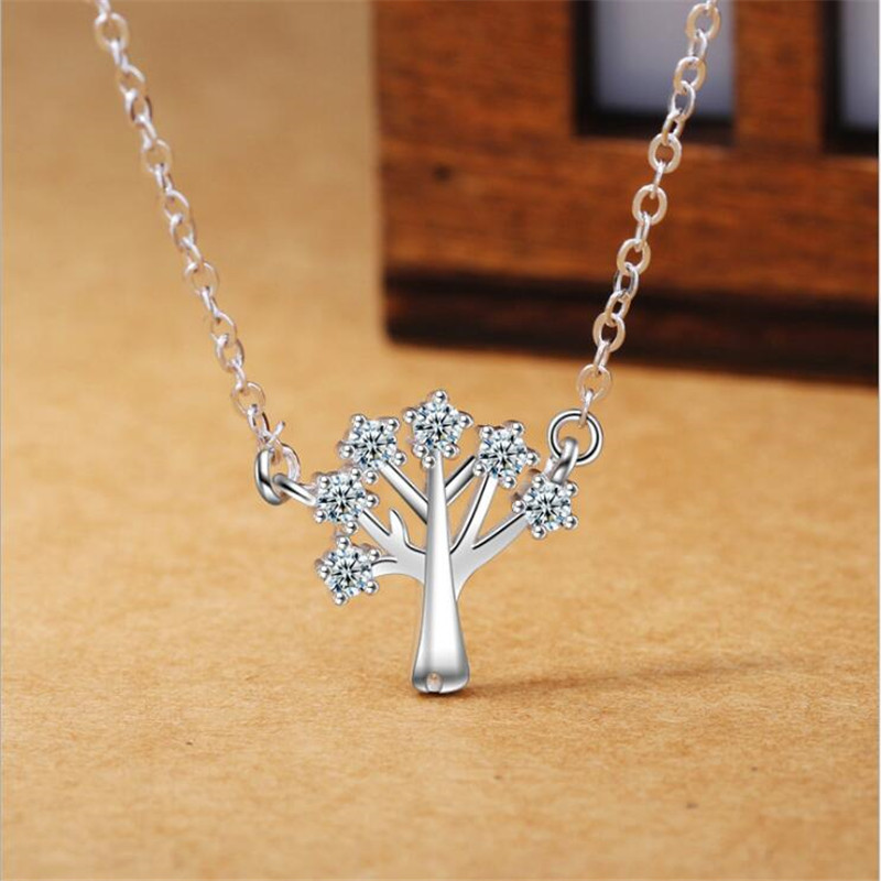 Necklaces & Pendants Useful New Fashion Jewelry Simple Flower 925 Sterling Silver Temperament Cherry Flower Clavicle Chain Accessories Pendant Necklaces N26