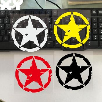 XY 11cm*11cm ARMY Star Graphic Decals Motorcycle Car Stickers Vinyl Car-styling Five-point Star 50cm skulls punisher pentacle five pointed star car stickers creative decoration decals for doors vinyls auto tuning styling d20