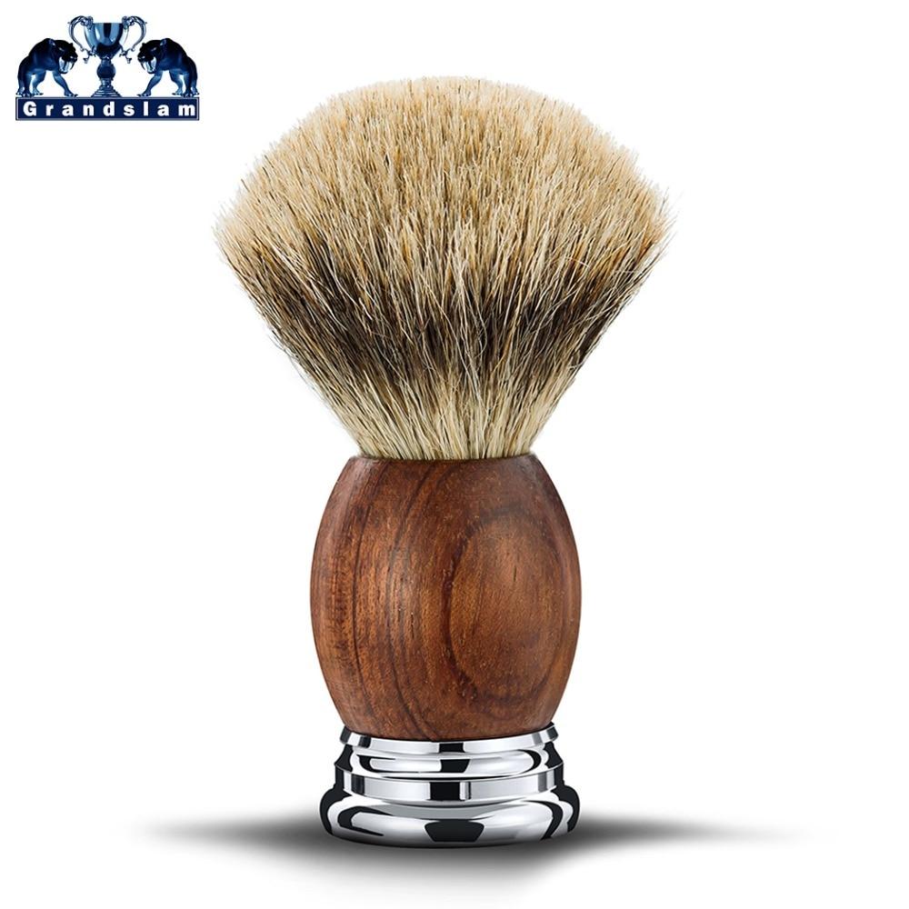 Grandslam Boyfriend rasage sécurité rasoir cadeau Kit cartouche 5 couches lame rasoir blaireau cheveux rasage brosse crème savon bol Se - 4