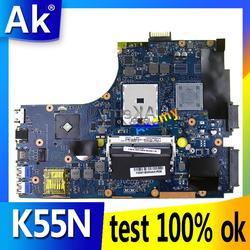 AK K55N Laptop płyta główna For Asus K55N K55DE K55DR K55D K55 Test oryginalna płyta główna