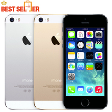 100% Vendita Calda Originale Apple iphone 5 S telefono Mobile Delle Cellule LTE Dual core Sbloccato 16 GB di ROM 8MP IOS GPS WIFI Multi-language(China)