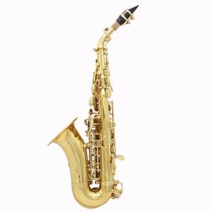 Image 2 - LADE Pirinç Altın Carve Desen Bb Viraj Althorn Soprano Saksafon Sax Inci Beyaz Kabuk Düğmeleri Rüzgar Enstrüman