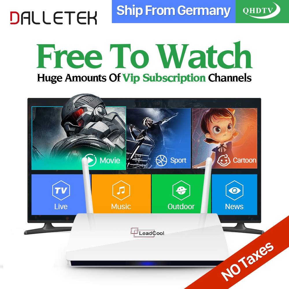 Dalletektv Latest Movie IPTV Europe Arabic IPTV Box 1300 Channels 1 Year QHDTV Code Subscription Leadcool Smart Android TV Box arabic iptv europe subscription 1 year qhdtv account 4k hd live sport channels iptv box android 6 0 tv box 2g 16g media player