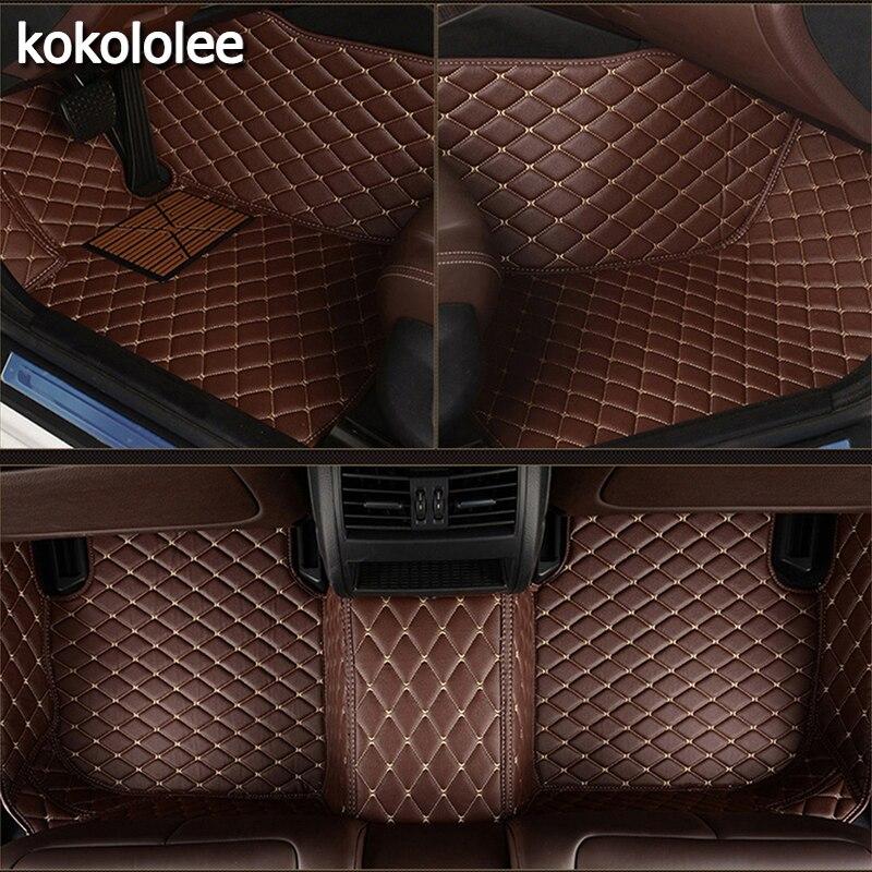 Kokololee Personnalisé tapis de sol de voiture pour Volvo Tous Les Modèles s60 s80 c30 s40 v40 v60 xc60 xc70 xc90 style de voiture auto accessoires