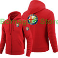 Women and men's Alfa Romeo car logo thicker fleece zipper sweatshirts