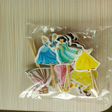 24pcs pig Princess Mickey mouse cupcake topper picks Cartoon Theme baby shower kids birthday decoration party favor