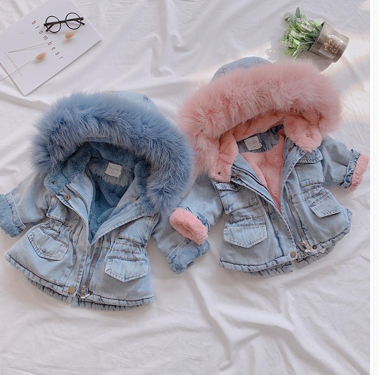 Children's cowboy plus velvet warm jacket 2(China)