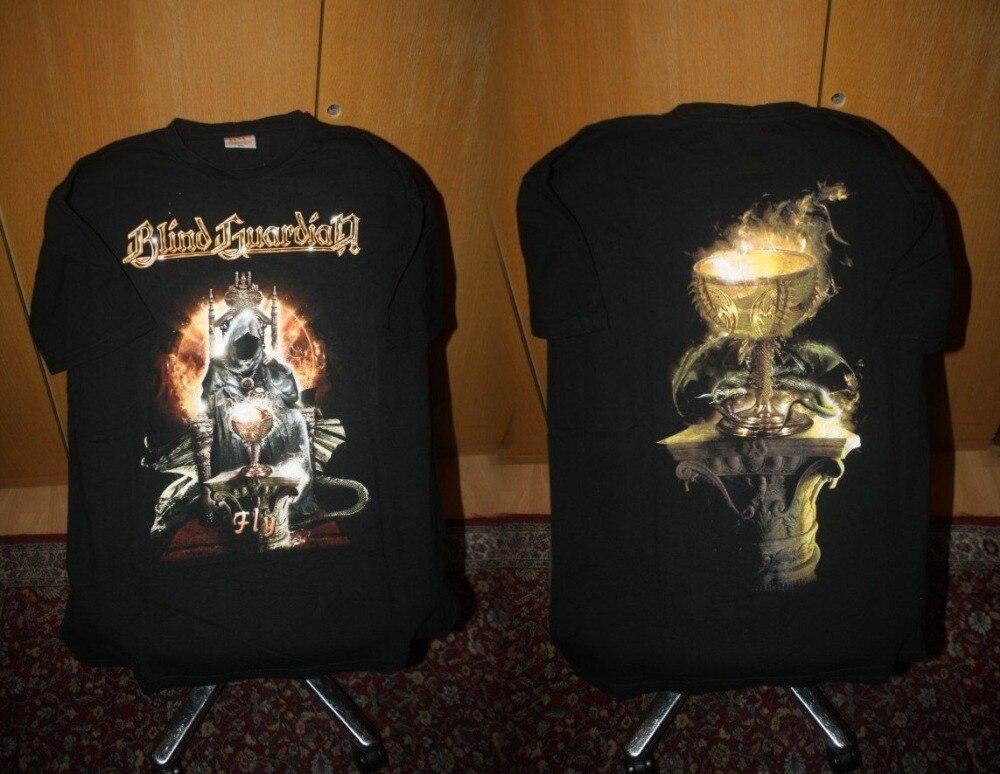 Create T Shirt MenS Crew Neck Short Sleeve Office Blind Guardian Fly Tee