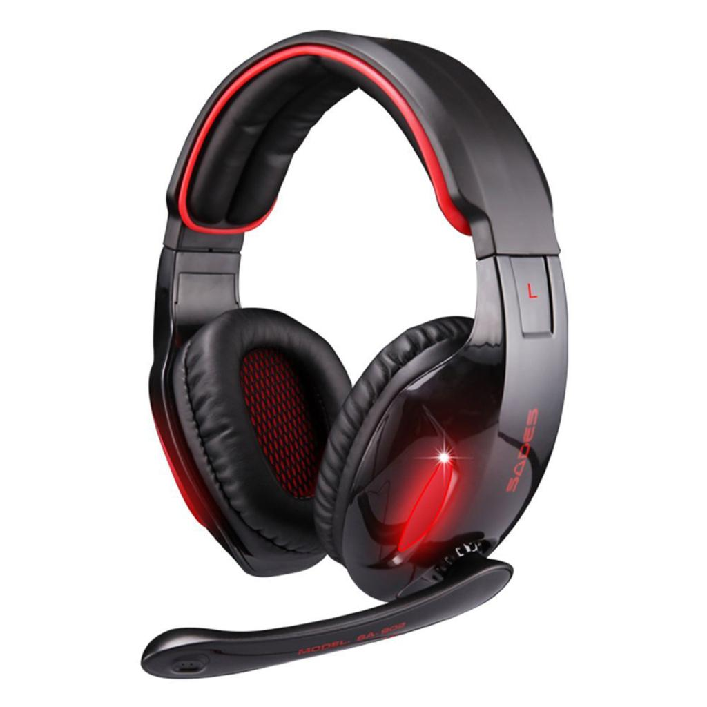 Original Sades SA 902 7.1 Surround Sound Effect USB Gaming Stereo Headset Headphone with Mic each g1100 shake e sports gaming mic led light headset headphone casque with 7 1 heavy bass surround sound for pc gamer
