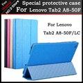 Новый Тонкий Стенд Флип PU Leathet Чехол Для Lenovo Tab2 A8-50F/LC 8 дюймов Tablet, Freeshipping + подарок