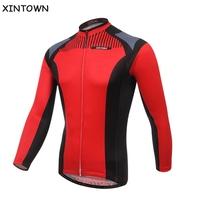 XINTOWN Red Men Women Cycling Long Sleeve Jersey Bike Bicycle Wear Breathable Spring Autumn Cycling Jersey