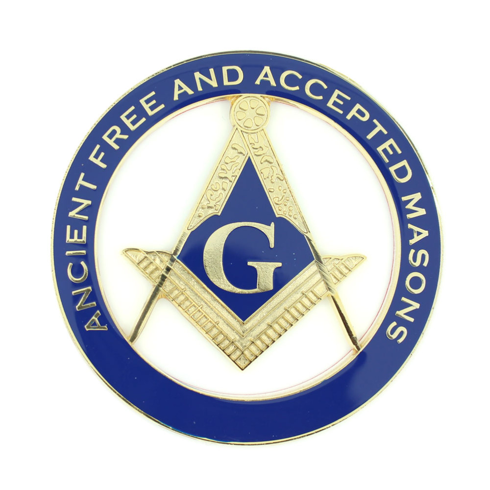 Freemason Ancient Free and Aceepted Masons Cut-Out Car Emblem
