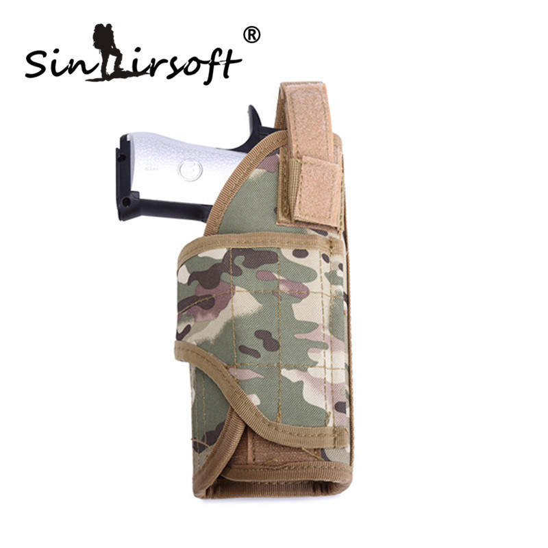 SINAIRSOFT mano Destra Regolabile Militare Airsoft di Caccia Del Sacchetto Tornado più MOLLE Vertical Gilet Tattico Fondina Pistola
