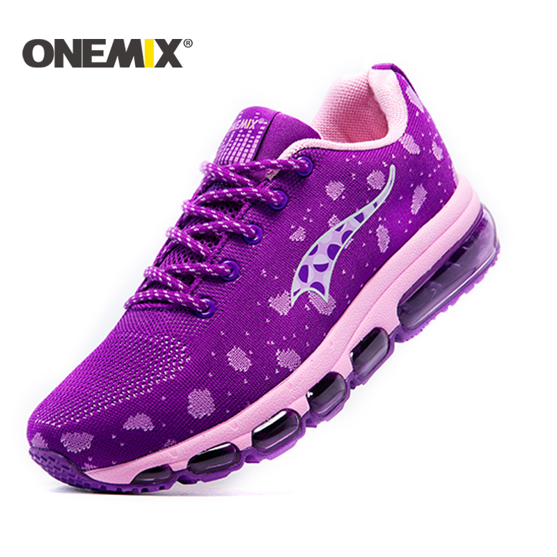 ONEMIX Sneakers Air cushion running shoes for woman Knitting Adult Shoes Breathable Outdoor sport Shoes women Walking Sneaker hot new 2016 fashion high heeled women casual shoes breathable air mesh outdoor walking sport woman shoes zapatillas mujer 35 40