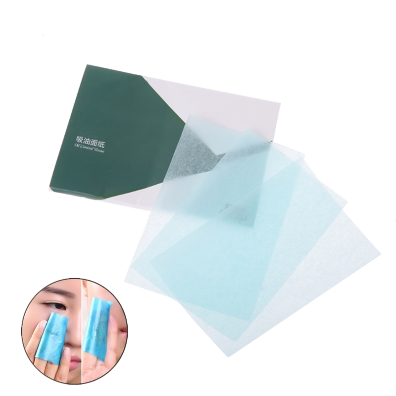 50pcs/Pack Facial Oil Blotting Sheets Oil Absorbing Papers Oil Control Wipes Face Skin Makeup Care Tool Blotting Matting Tissue(China)