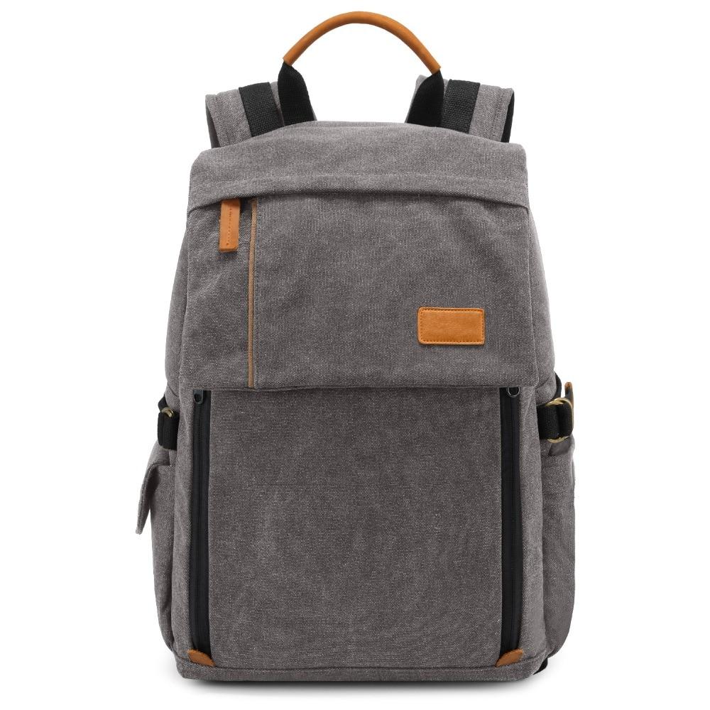 SLR camera bag Europe and America shoulder camera bag shockproof canvas bag outdoor camera bag multi-function backpack : 91lifestyle