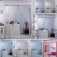 Cortina de puerta de ventana de cuerda de moda telón de fondo Panel ciego borlas decoración de sala de estar