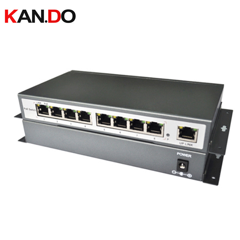 8 Port Poe Switch 1 Rj45 Uplink 8Ch Poe&Optical Transmission Ieee802.3af 100 Mbps 8 Ports Poe Hub For 48V Poe Ip Camera